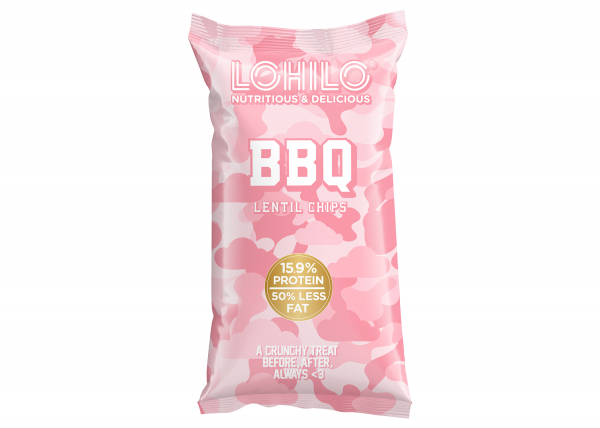 LOHILO BBQ Lentil Chips 90g in the group Functional Foods at LOHILOFOODS AB (41049)