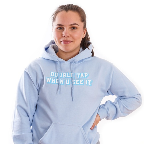 Double tap when u see it - Blue Lohilo Hoodie in the group Fitness Clothing at LOHILOFOODS AB (41115_r)