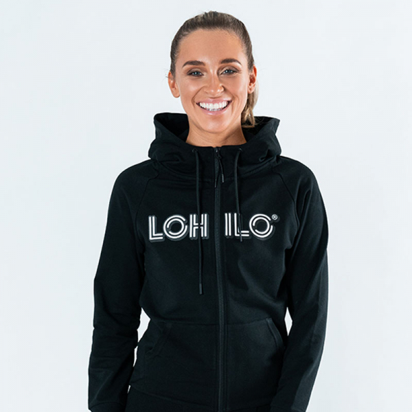 Lohilo Squad - Black Lohilo Zip Hoodie Wmn in the group Fitness Clothing at LOHILOFOODS AB (41645_r)