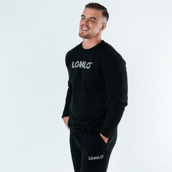 Lohilo Squad - Black Lohilo Sweater in the group Fitness Clothing at LOHILOFOODS AB (41755_r)